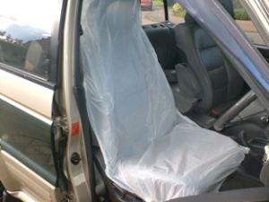 10 X White Disposable Car Seat Covers